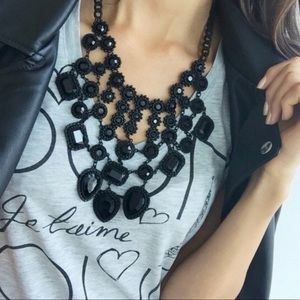 Zara Black Necklace